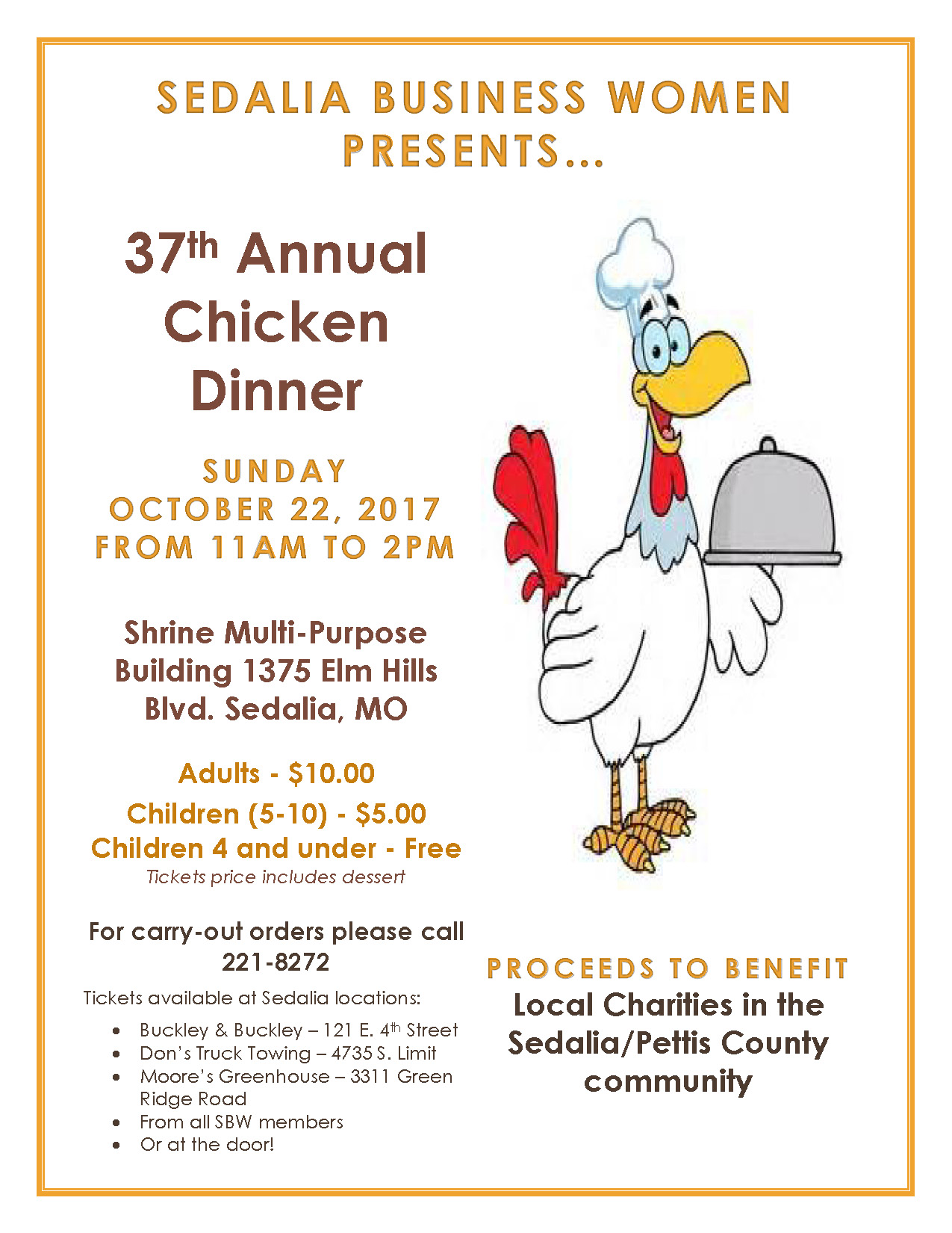 37th Annual Chicken Dinner