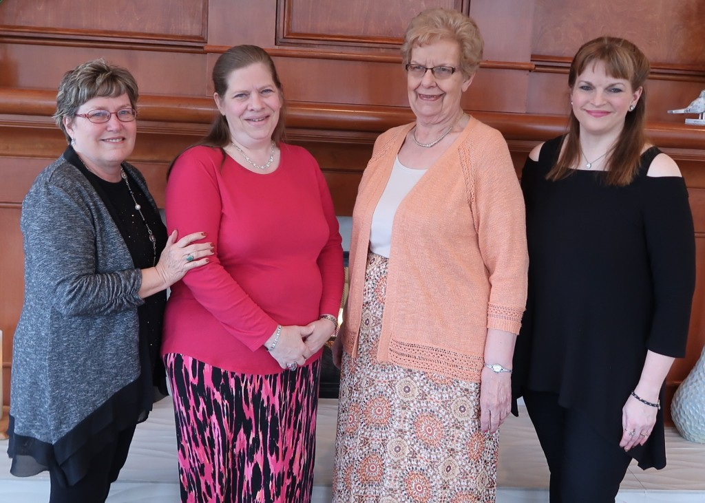 Linda Fisher, photographer; Donna Hirner-Gardner, BWM VP; Della Schnakenberg, Foundation Board; Michelle Sparks; Foundation Board